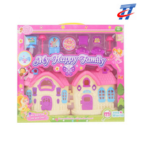 dolls villa and furniture toy set