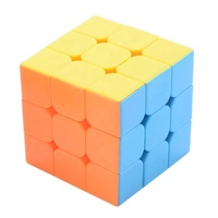 5.5cm educational toys oem magical 3x3 cube speed with stickerless