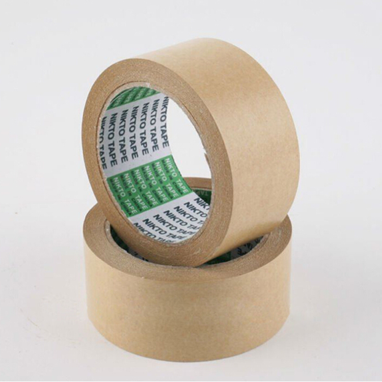Environmental protective brown reinforced kraft paper tape for packing