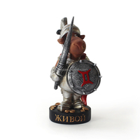 Cartoon design pewter soldier figurine