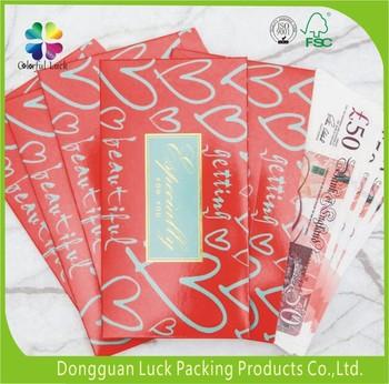 customized gold foil wedding design red pocket money gift envelopes