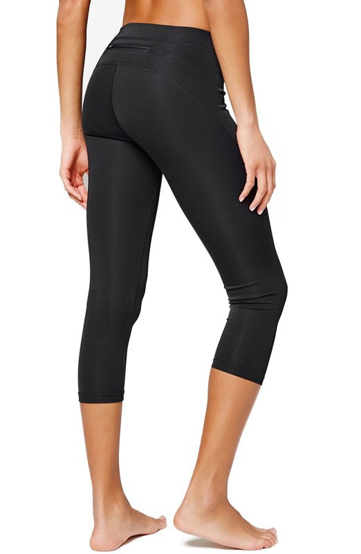 wholesale Mid rise Three Quarter fitness leggings for women