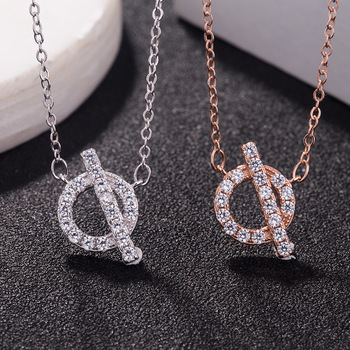 AP22569 wholesale fashion Q letter sterling silver necklace charms jewelry Dropshipping