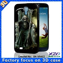 Full protect 3D depth skull king soft TPU case for samsung galaxy case for S3/S4/S5