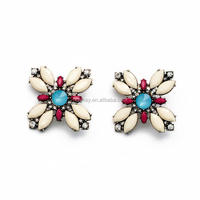 cute earrings colorful acrylic embellished cheap wholesale stud earrings online shopping india