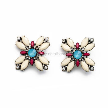 Cute Earrings Colorful Acrylic Embellished Whole Stud Online Ping India