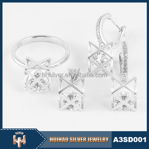 Cheap Factory Price HUIHAO JEWLERY 2017 New Model Silver Jewelry For Women