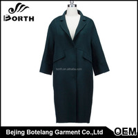 2017 new fashion china 100% Women wool cashmere coat for winter and autumn