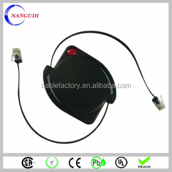 Cat6 UTP patch cord logo custom retractable network cable
