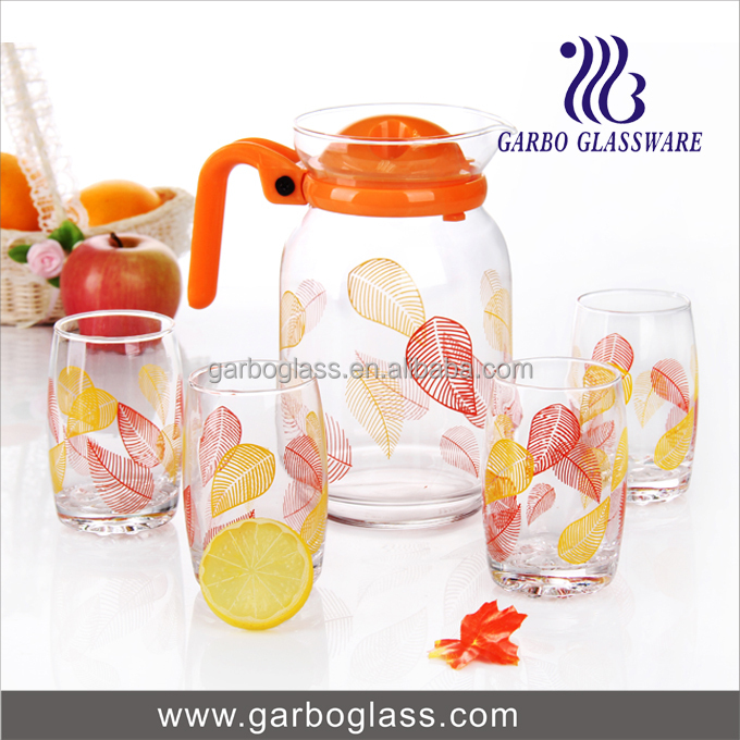 Good Price Custom Printed Decal Pattern 7pcs Glass Lemon Set,Glass ...