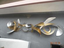 3D metal wall art opschorten sculptuur metalen muur sculpturen voor ornament