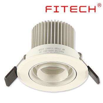 4 W Cob Zilveren Commerciële Plafond Verzonken Verlichting Led Spots ...