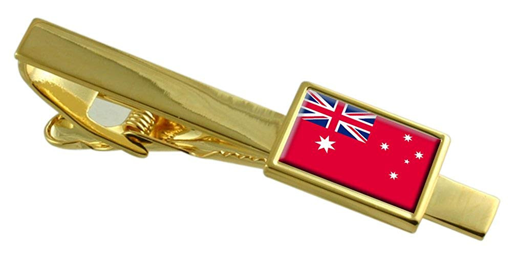 Select Gifts Navy Ensign Militairy Australian Flag Gold-Tone Tie Clip