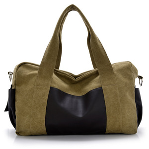 High quality canvas material business man sports travel duffle bag