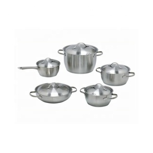 10 PCS Camping cooking sets stainless steel non-stick cookware Pots and Pans Set