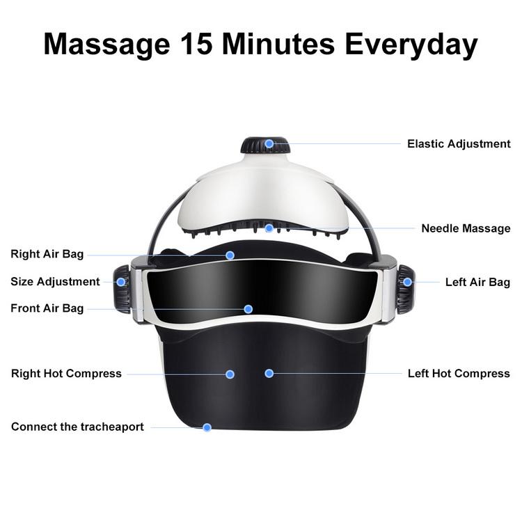 Head massage helmet dual vibrating electric automatic head massager