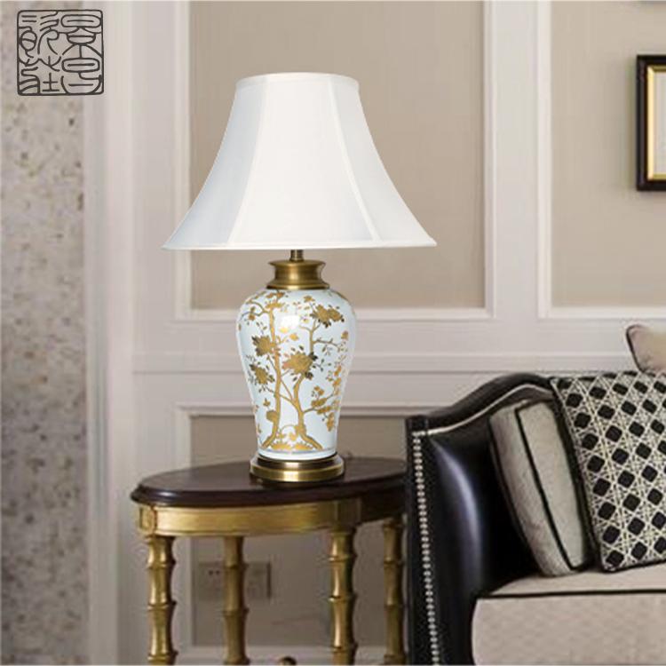Hot Koop Traditionele Gember Pot Schilderen Keramische Gouden Bloem Patroon Moderne Decoratieve Chinese Gember Pot