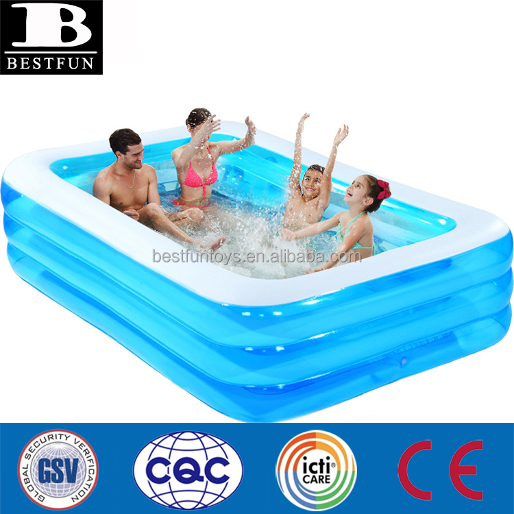 High Strenght Plastic Inflatable Swimming Pool Family Folding Durable Portable Adult Pools
