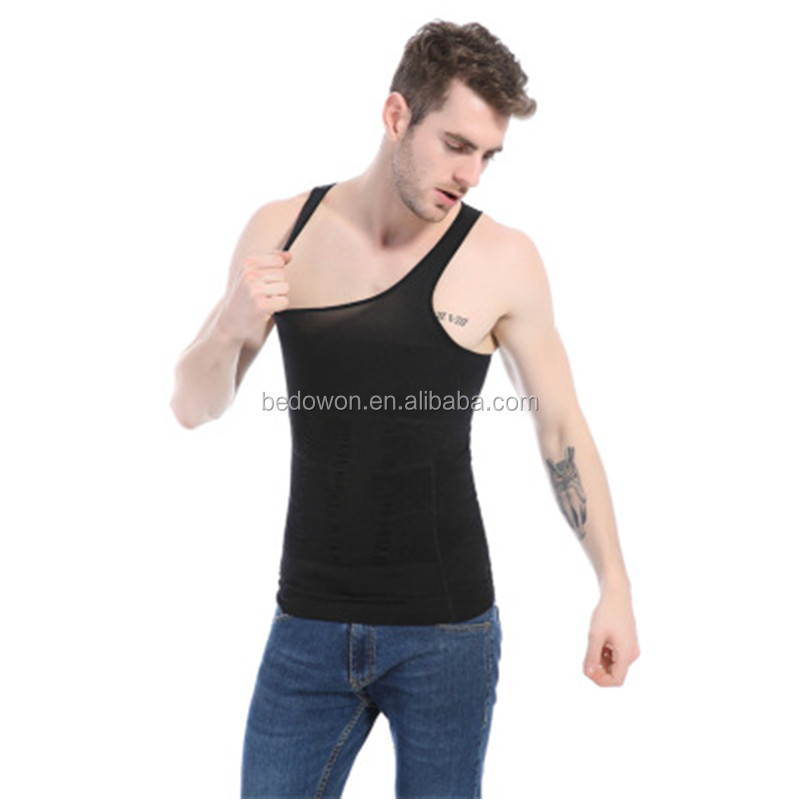 Men's Shaper Slimming Undershirts T-shirt Base Layer Slim Compression Muscle Elastic Body Sculpting Vest