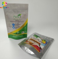 Stand Up Ziplock Plastic Pouches Packaging Aluminum Foil Lined bag Matcha Powder Green Tea Bag Snack Peanut Packing