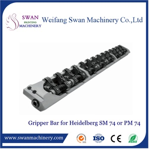 Spare parts from printing machine Heidelberg Spare parts Gripper bar for Heidelberg SM74 or PM74 GTO52 spare parts