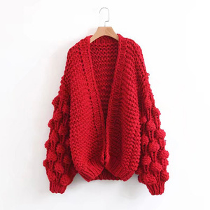 2018 New Style Women Sweaters 5 GG Hand Knitted Sweater Women Cardigan