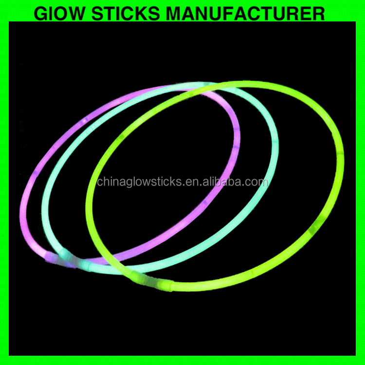 Best seller glow sticks neon light necklace /22inch chemical glowstick necklace