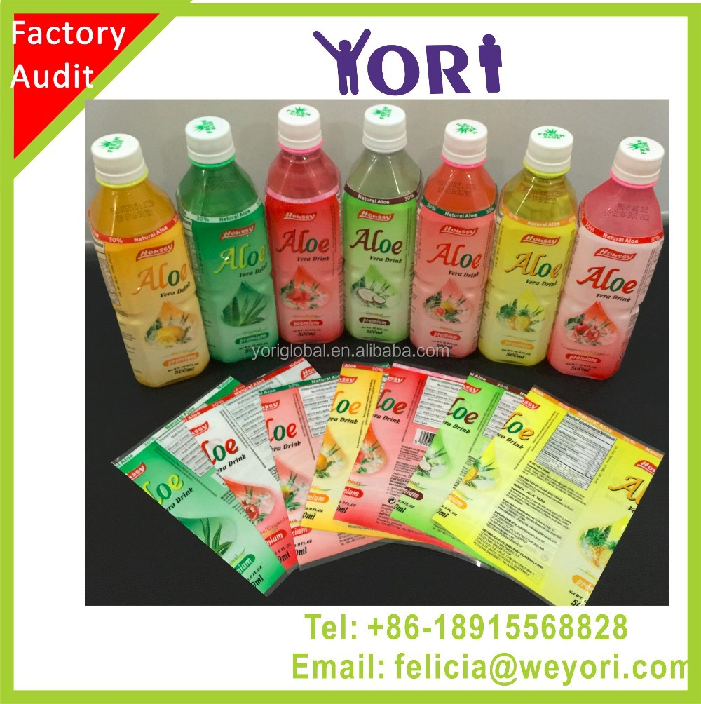 Yori customized clear front pvc shrink label for water bottle/shrink label