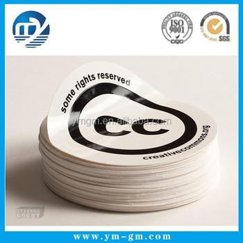 Round die cut print custom stickers alibaba china