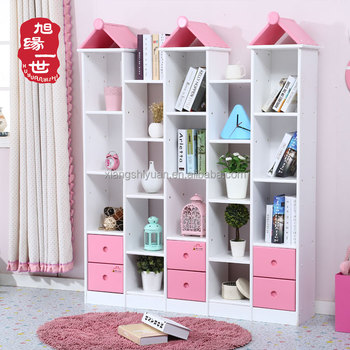 huge discount 9bf61 ba0ea Girls Pink Color Combination Open Bookshelf Set Solid Wood Kids Book Rack  Organizer - Buy Childrens Arts And Craft Organizer,Wood File Organizer,Wood  ...