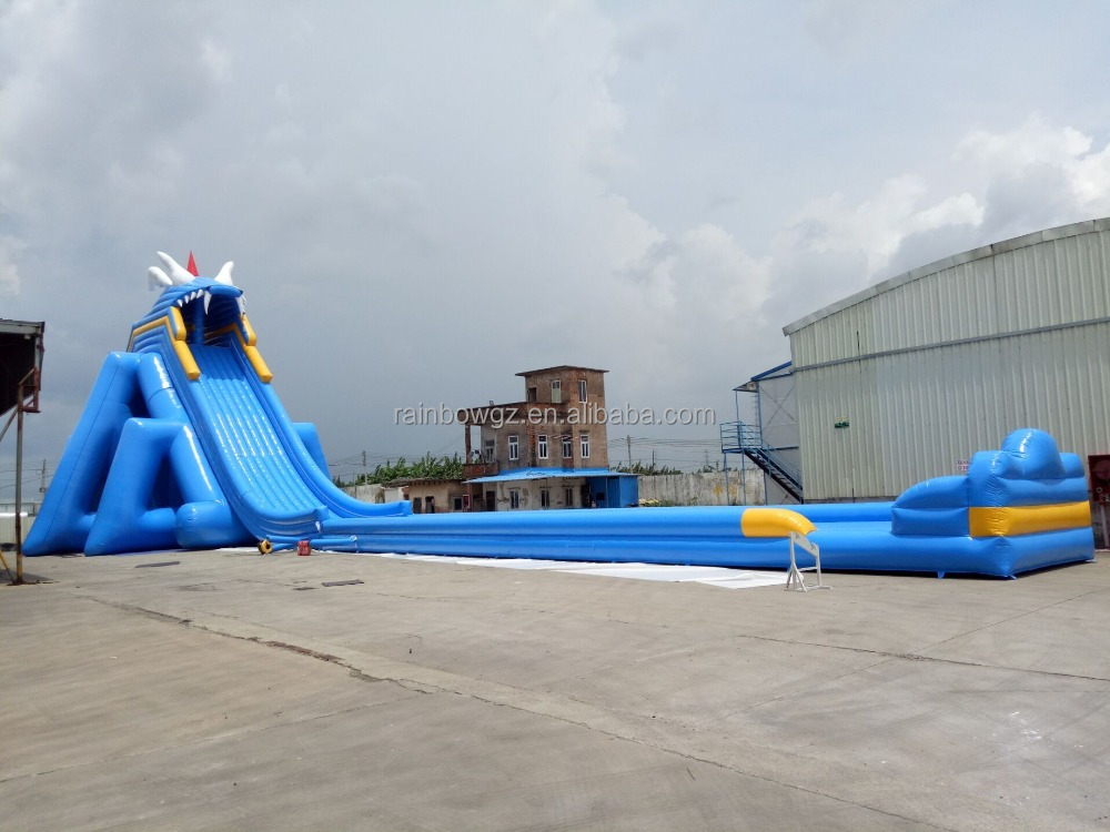 Adult size inflatable water slide with pool, giant amazing inflatable water slide, inflatable high slide for adults