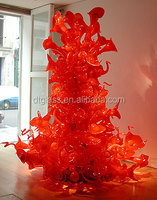 Red Sprite Hand Blown Glass Chandelier Floor Lamp