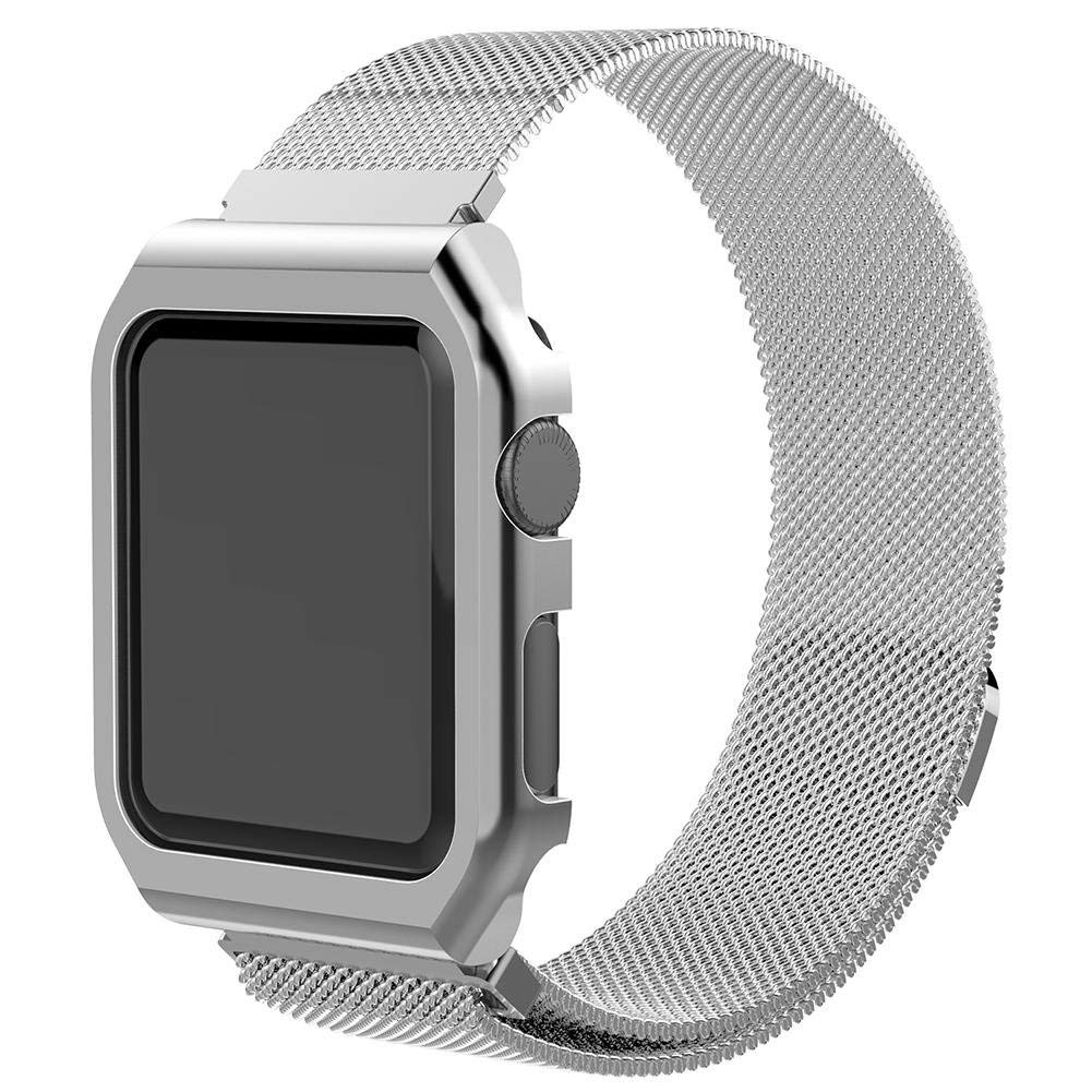 UEB Watchband Replacement Stainless Steel Watchband Strap Magnetic Loop Buckle for Apple Watch 42mm