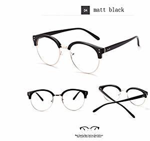 5a964bc577 Buy Cloudings(TM)Vintage Retro Round Nerd Frames Glasses Fashion Brand  Designer Women Myopia Eyeglasses Oversized Half Metal Eyewear Frame 5131 in  Cheap ...