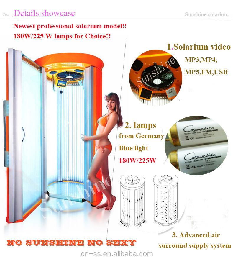 Factory Direct Price For Sunshine Sonnex Solarium Stand Up Solarium