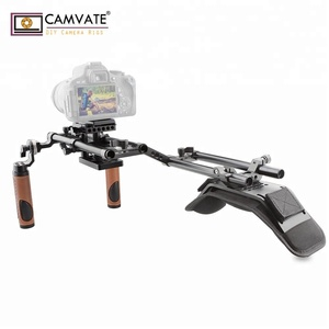 CAMVATE best affordable dslr Camera stabilizer shoulder rig handgrip support kit