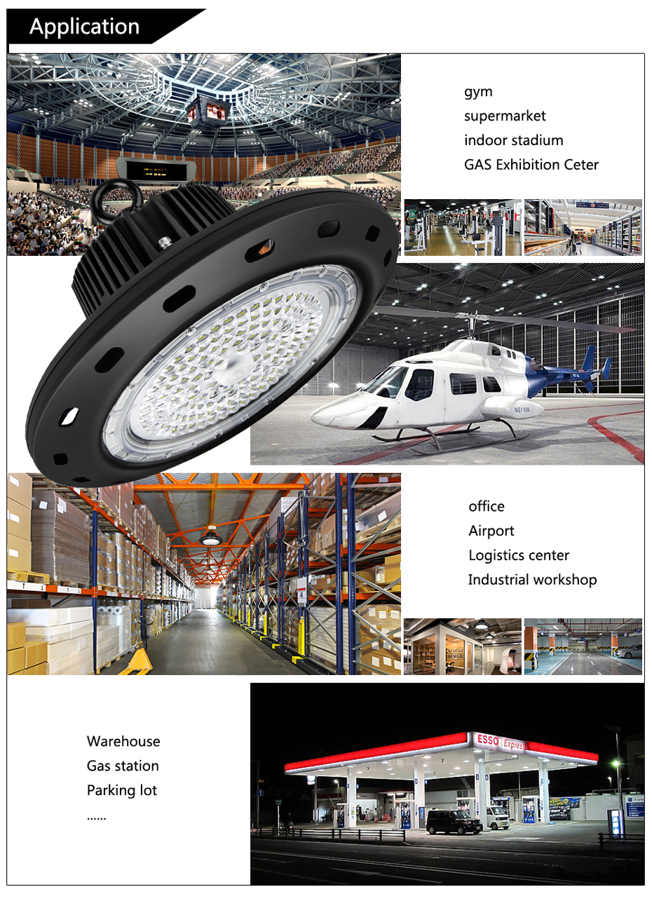 TUV/SAA Approved Warehouse Industrial 100W 150W 200W UFO Led High Bay Light