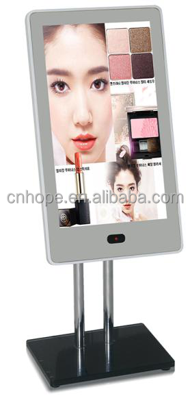 High quality 13.3 inch standing mirror advertising player AD display