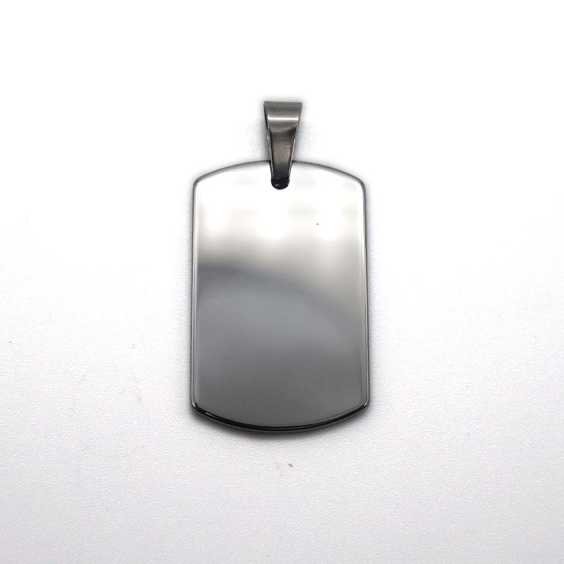 الجملة عالية مصقول زي عسكري مخصص هدية التنغستن قلادة