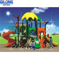 New Arrival outdoor sliding gate toddlers wooden playground children outdoor amusement park equipment