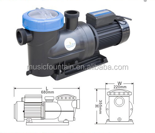 Plastic Steeing Small Water Pump Motor For Swimming Pool