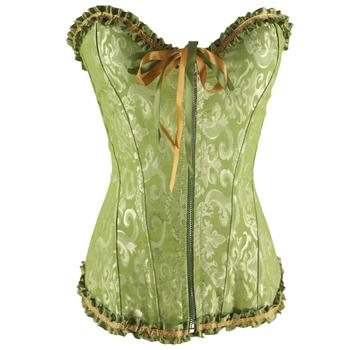 front zipper cross underbust bridal corset top with lace