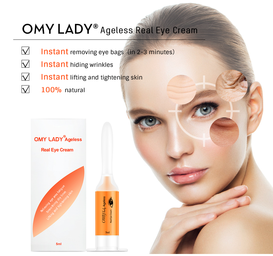 OMY LADY Anti-aging Wrinkle Instant Eye Bag Removal Natural Formula Beauty Eye Cream