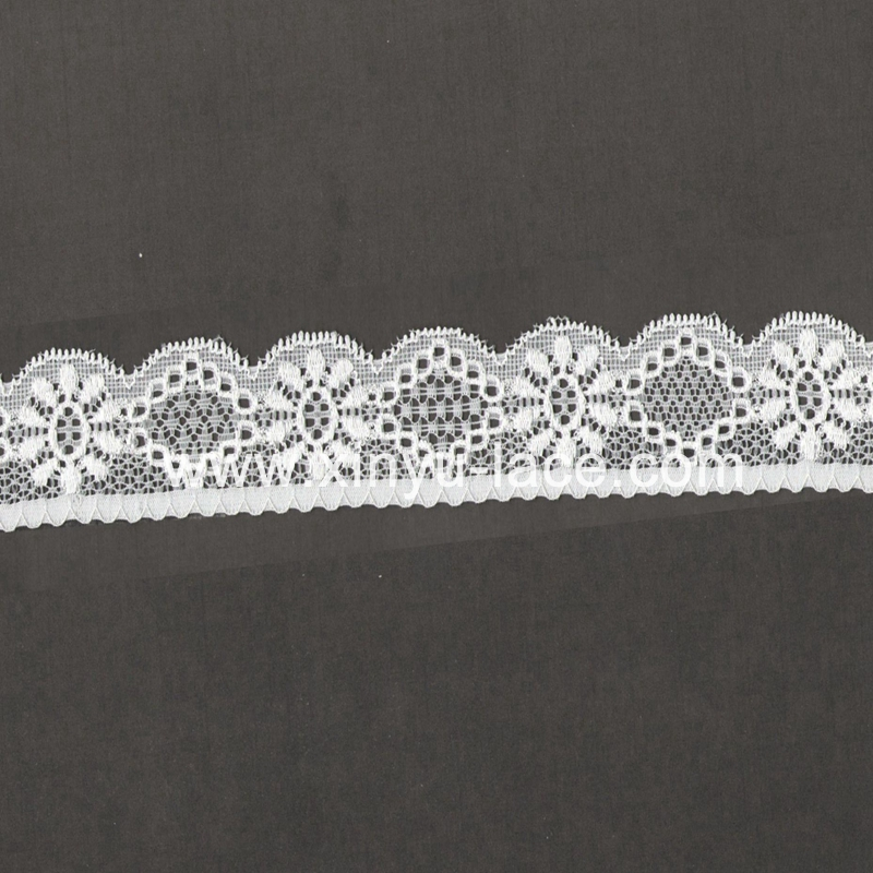 narrow white cotton chemical narrow lace wholesale in stock with good quality,low cost