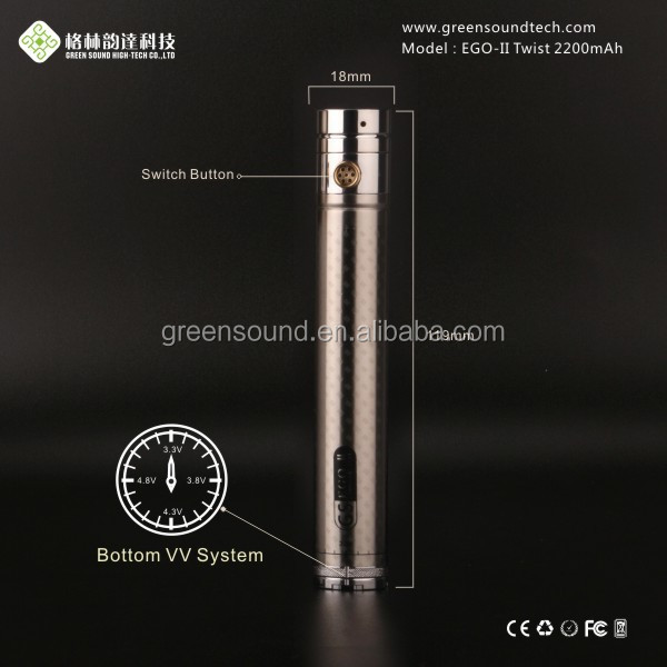 GreenSound Hookah Pen 18650 2200mah vaping battery rechargeable 3.6v 2200mah 18650 li ion battery