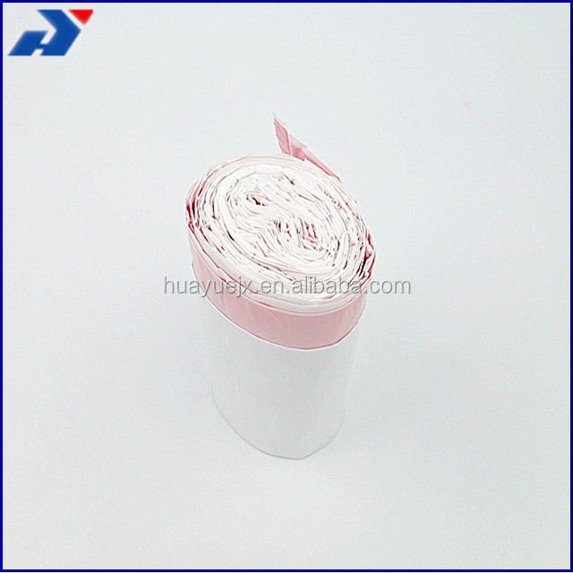 LLDPE Plastic Garbage Bags Interleaf On Roll Kitchen Drawstring Trash Bags