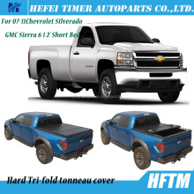 Autoparts tonneau cover hard tri-fold pickup caps for 07-11Chevrolet Silverado GMC Sierra 6 1 2' Short Bed