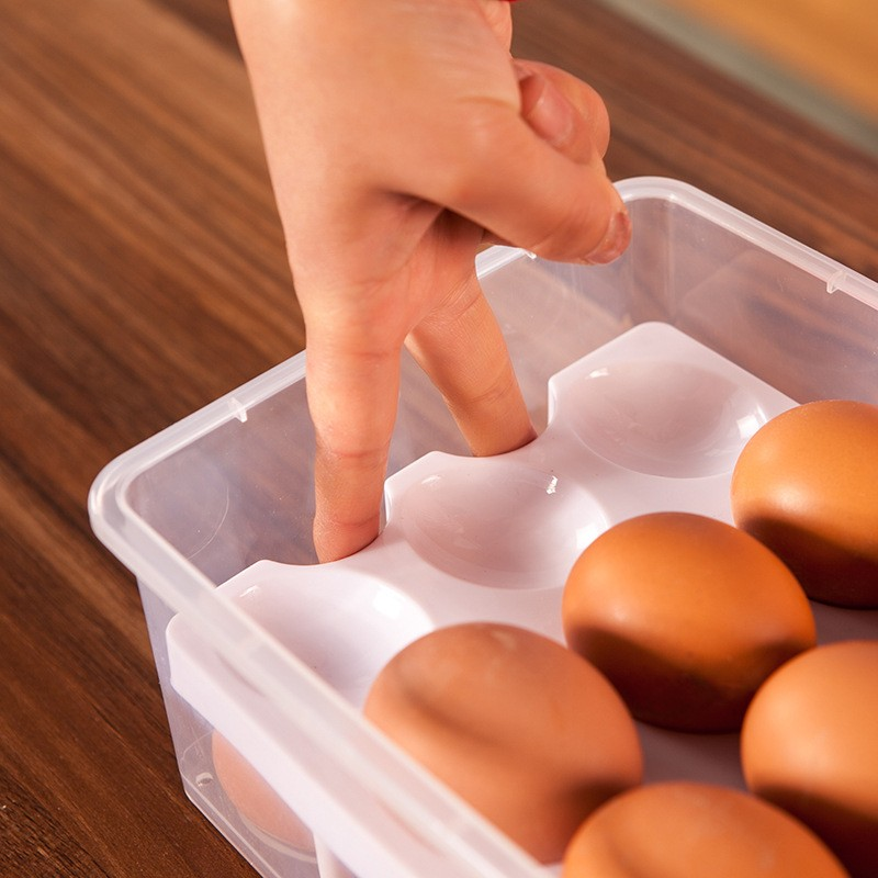 Hotsale Double-deck Plastic Egg Tray Box With Handle