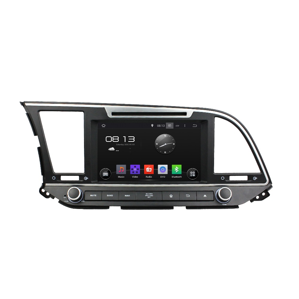 2 din andriod system 5.1 car dvd gps for Hyundai Elantra 2016 RHD Avante double din car dvd player with Radio RDS 3G BT SWC car