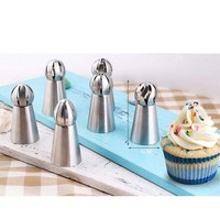Silicone Kitchen Accessories Icing Piping Cream Pastry Bag Stainless Steel Nozzle Set DIY Cake Decorating Tips Set